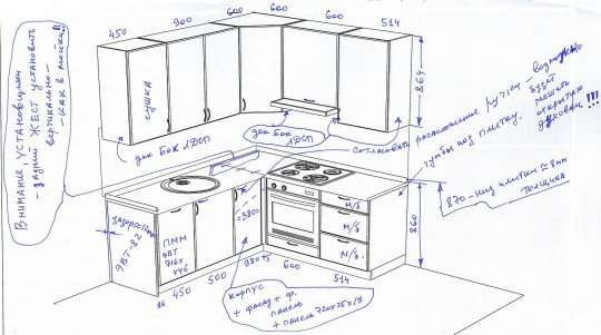 Типовая кухня с вентиляционным коробом. идеи для ремонта.