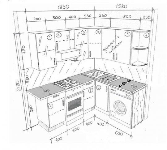 Чертежи угловой кухни - Свежие поступления на 3D-Mov