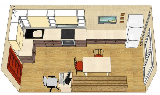 Кухня 10 кв метров с балконом дизайн..