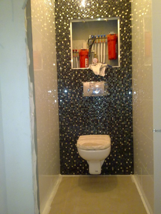 Мозаика в туалете дизайн фото