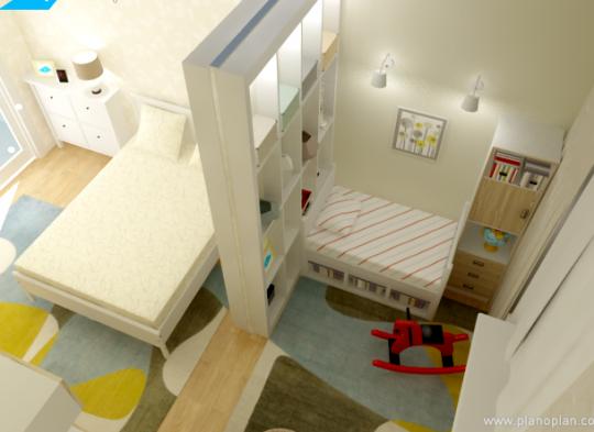 Дизайн однушки с двумя детьми