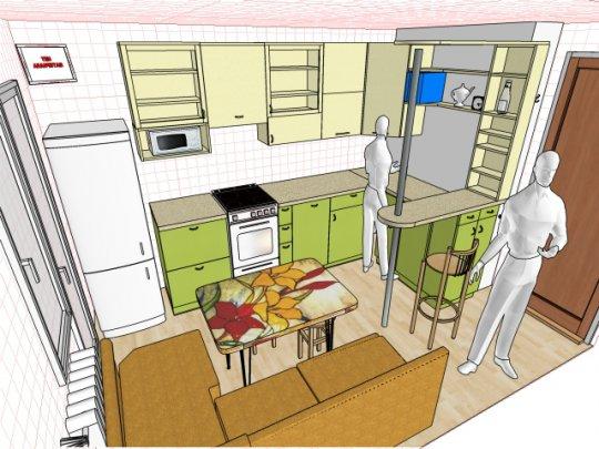 Дизайн угловой кухни 12 кв м с диваном.