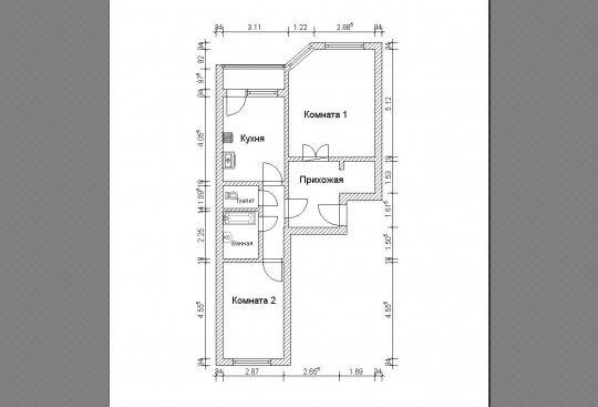 2 -к квартиры вашего дома