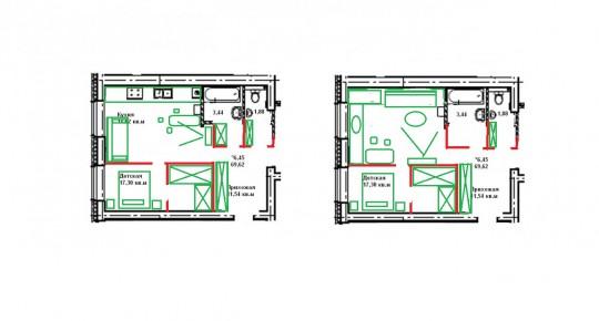 С планировкой гостиная спальня 19 кв