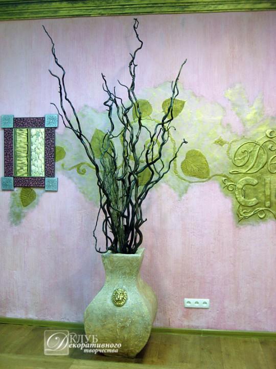 Сделать цветы для напольной вазы