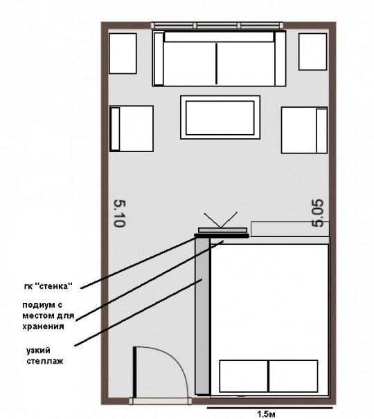Стоит ли зонировать полукруглую гостиную