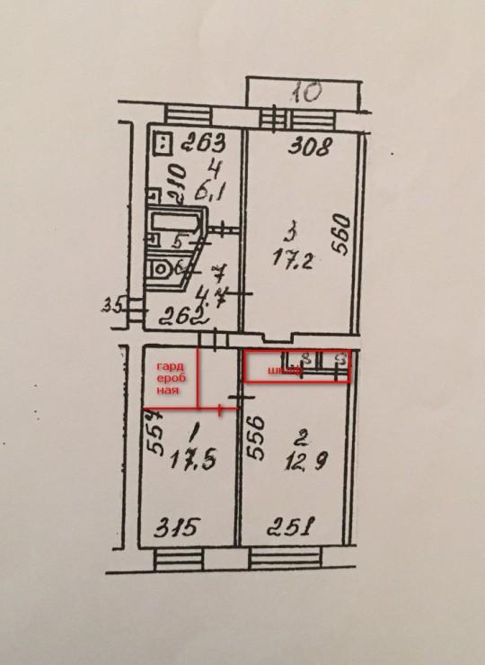 вариант 1 - изолированные комнаты