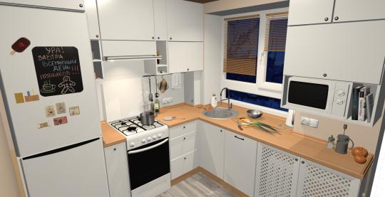 Вот моя кухня в хрущевке, размеры как у Вас.
