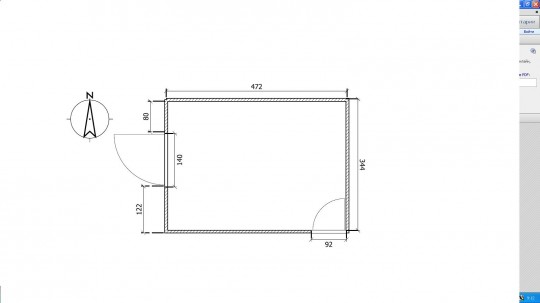 Общая площадь комнаты 16,33 кв.м. Высота потолка 2,82, (окно высотой 1,66 см, от пола до подоконника 87 см, от потолка до окна 29 см)