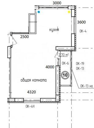 кухня с размерами