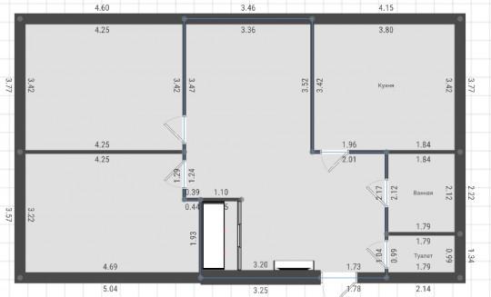 Доброго время суток! Вот Вам возможный вариант перепланировки! За счет переноса стены, у Вас увеличится комната, останется гардеробная! В данном варианте по моему лучше закрыть кухню и за счет коридора увеличить пространство гостинной.