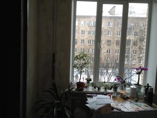 основной свет и солнышко от окна палает на левую стенку и в кухне и в комнате, вероятно это тоже нужно как-то учитывать